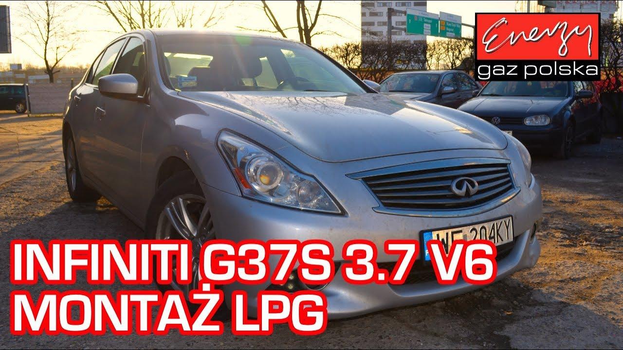Montaż LPG Infiniti G37S 3.7 320KM V6 2009r w Energy Gaz Polska na auto gaz KME Nevo