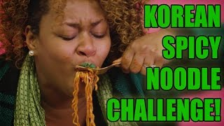 Repeat youtube video Korean Spicy Noodle Challenge! - GloZell