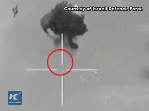 Raw: Israeli war jets shoot down Hamas drone over Gaza Strip