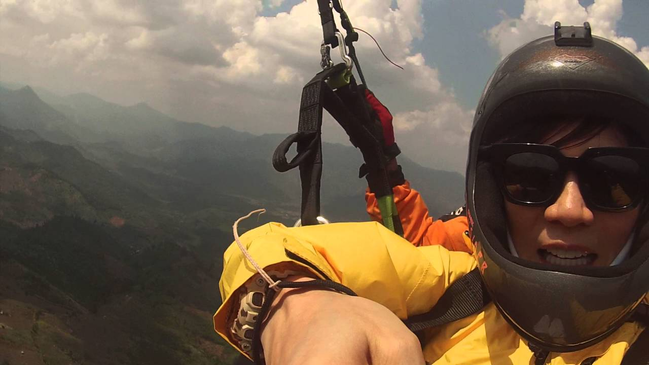 Paragliding tandem thermal flight in Khánh Vĩnh, Nha Trang
