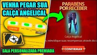 🔴 FREE FIRE AO VIVO 🔴 SALA PERSONALIZADA PREMIADA 🔴 VENHA PEGAR SUA CALÇA ANGELICAL  🔴