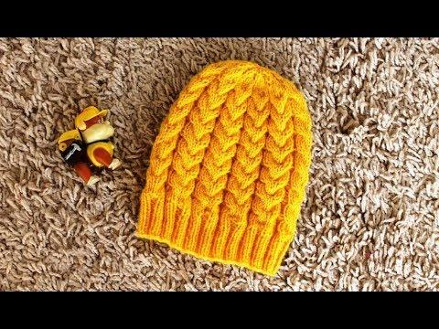 Красивые шапочки спицами для девочек