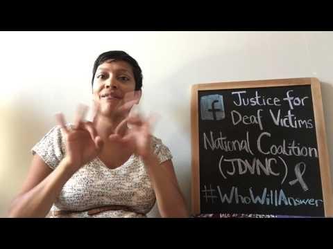 Justice for Deaf Victims National Coalition Vlog