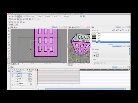 Toon Boom Tip #31 Working in a 3D Space - Week 3 Enabling 3D and 3D Camera Moves (part 1)