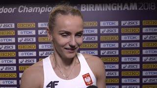 WIC 2018 Birmingham - Justyna Swiety-Ersetic NED 400 Metres Heat 2