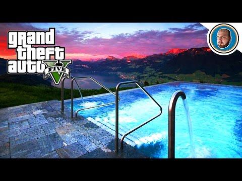Gta 5 mod costruire una villa moderna 5 piscina youtube for Costruire una villa