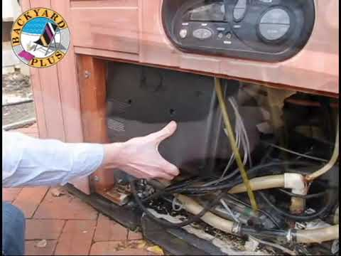 How to remove a Hot Spring spa control box - YouTube
