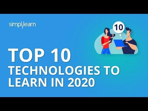 Top 10 Technologies To Learn In 2020   Trending Technologies In 2020   Simplilearn