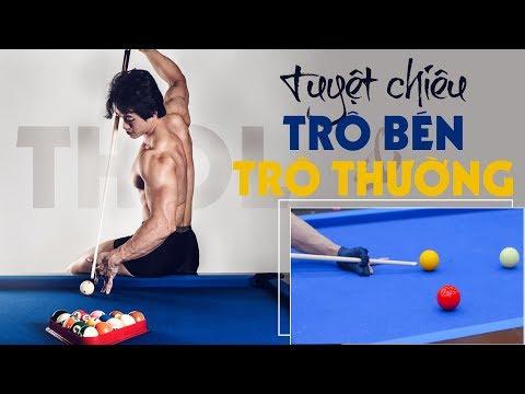 Cách trô bén và retro thường giữ lực gom bi billiards căn bản