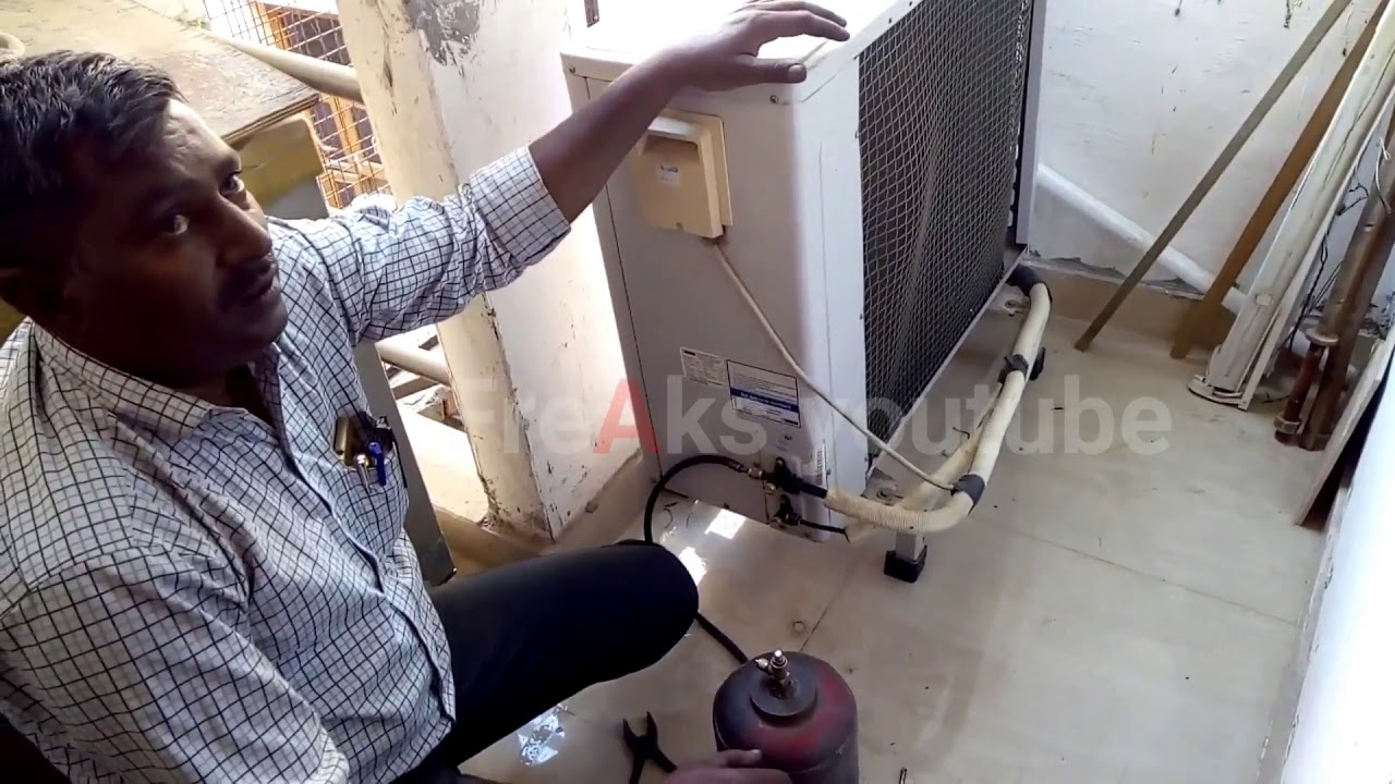 Split Ac Gas Filling With Expert Blue Star Ac Gas