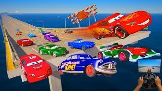 Race Crazy Cars   McQueen and Friends Doc Hudson Francesco Bernoulli Snot Rod Boost Wingo DJ