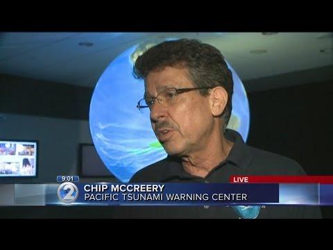 9pm Pacific Tsunami Warning Center interview