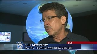 9pm Pacific Tsunami Warning Center interview