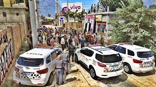 GTA 5   POLÍCIA DA FORÇA TÁTICA INVADE BAILE DO MEGATRON SURPRESA - OPERAÇÃO EM RISCO #1