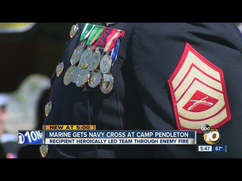 Marine gets Navy cross at Camp Pendleton