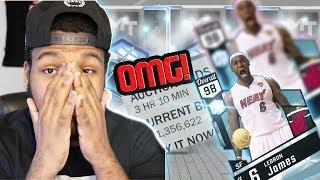 NBA 2k17 MyTeam - Most Expensive Card Ever! Diamond 98 LeBron James! Over 1Million MT! Playoff Packs