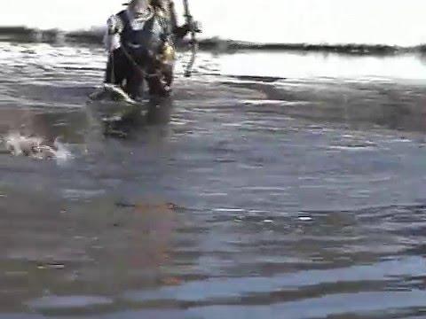 Wisconsin Bowfishing Winter On Petenwell Lake '08