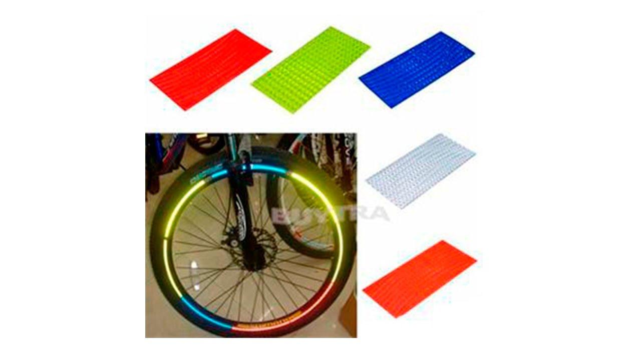 Светоотражающие наклейки на обод колеса велосипеда с AliExpress .