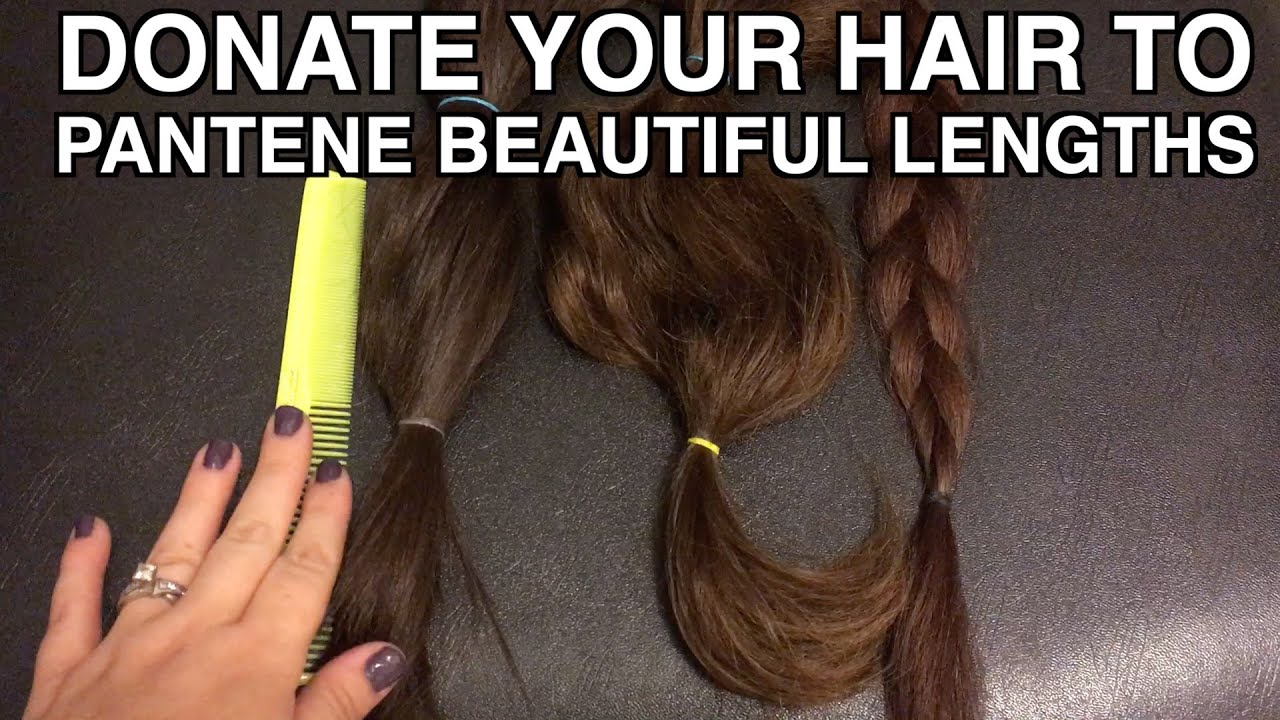 How to donate your hair to Pantene Beautiful Lengths charity - YouTube