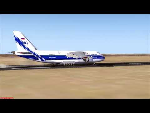 FSX AN-124 arriving at Leipzig -181FPM