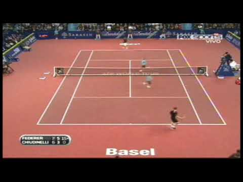 Basel 2009: Roger Federer vs Marco Chiudinelli. Last Game Of The Match