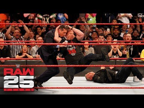 'Stone Cold' Steve Austin Stuns Shane and Mr. McMahon: Raw 25, Jan. 22, 2018
