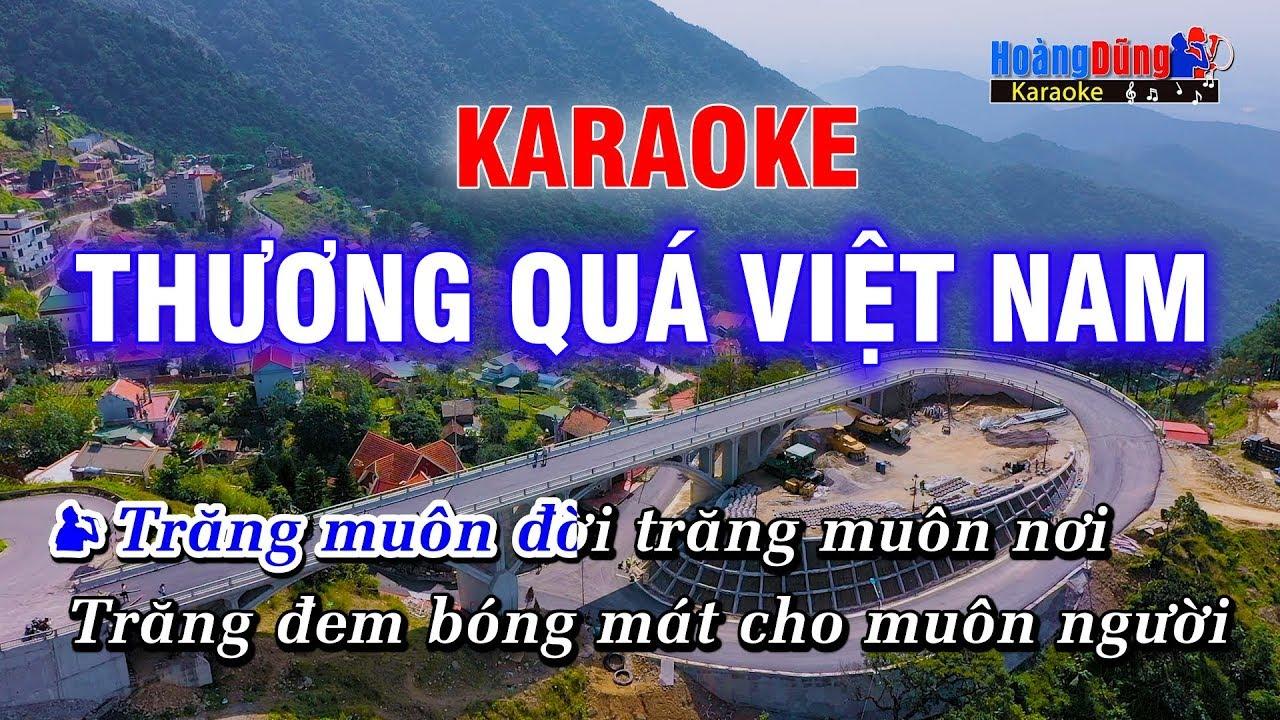 Thương Quá Việt Nam Karaoke Nhạc Sống Cha Cha Cha | Hoàng Dũng Karaoke