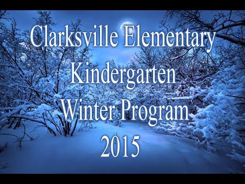 Clarksville Comm. Schools~Kindergarten Winter Concert 2015