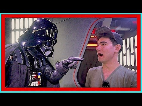 DARTH VADER INTERROGATES REBEL SPY At Star Wars Launch Bay   DisneyLand Vlog Day 4