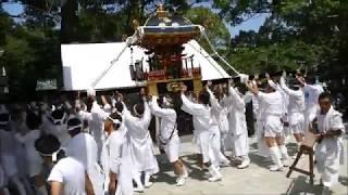 安房神社1300年祭:中里八坂神社佐野熊野神社の神輿入祭 H30aw10 thumbnail