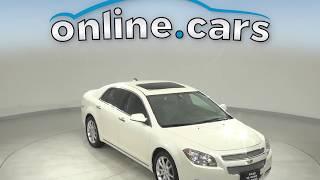 A12917DT Used 2012 Chevrolet Malibu LTZ FWD 4D Sedan White Test Drive, Review, For Sale