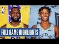 LAKERS at GRIZZLIES   FULL GAME HIGHLIGHTS   February 29, 2020