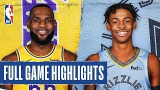 LAKERS at GRIZZLIES | FULL GAME HIGHLIGHTS | February 29, 2020