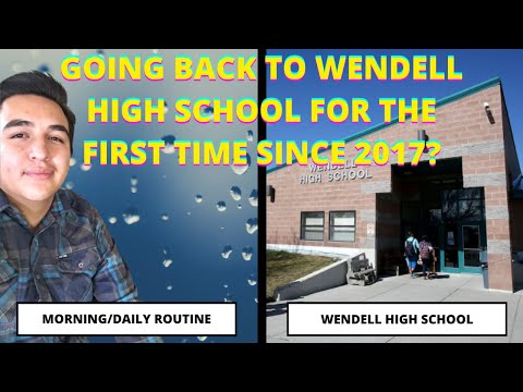 I WENT TO WENDELL HIGH SCHOOL FOR THE FIRST TIME SINCE 2017?