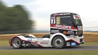 1200HP MAN Race Truck V8 Diesel Power driven by Ryan Smith @ FOS Goodwood 2019