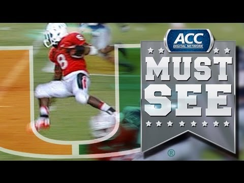 ACC Must See Moment | Miami's Duke Johnson Hops And Runs For A 53-Yard Touchdown | ACCDigitalNetwork