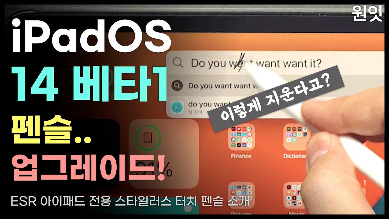iPadOS 베타 1 아이패드 올렸는데, 펜슬이.. ⎪ ESR 짭플펜슬