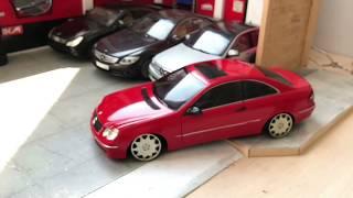 CLK240 Mercedes-Benz Gmg Garage Folyosuyla Kapladık / 1:18 KYOSHO Diecast Model