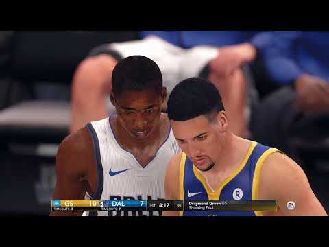 NBA Live 18 Game Golden State Warriors vs Dallas Mavericks 2017 2018 Season
