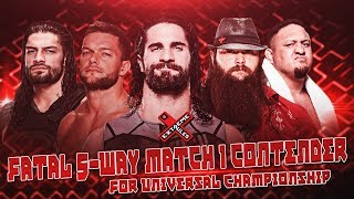 Wwe extreme rules 2017 - fatal 5-way extreme rules match (nº1 contender universal championship)