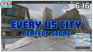 Geoguessr - Every US City! - Perfect Score 25000 Points 6:16
