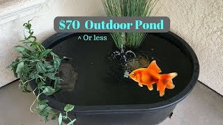 How to make a pond for under $70