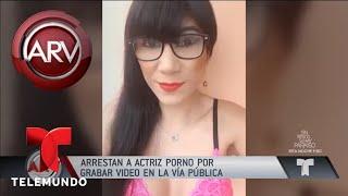 Actriz porno grabó video con juguete sexual en la vía | Al Rojo Vivo | Telemundo
