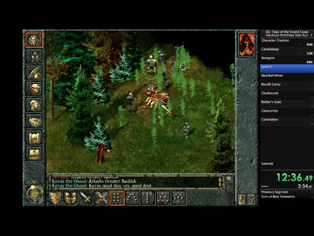 Baldurs Gate: Tales of the Sword Coast (Original Saga) Hardcore Glitchless Solo Run until Cloakwood