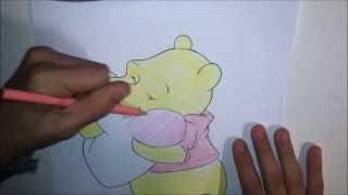 How to Draw Winnie the Pooh (Valentine