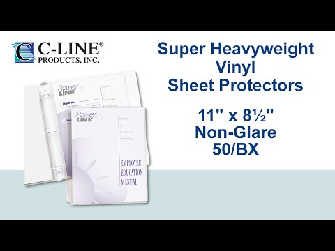 Super Heavyweight Vinyl Sheet Protectors Non-glare, 11 x 8-1/2, 50/BX- C-Line Products - 61018