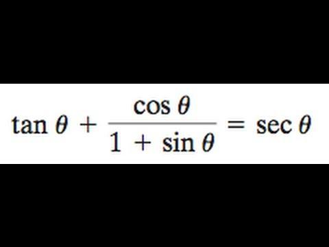 tan + cos/(1 + sin) = sec theta
