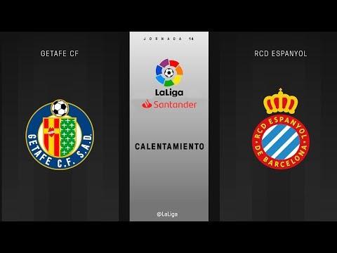 Calentamiento Getafe CF vs RCD Espanyol