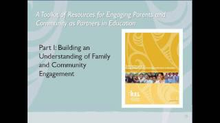 Building an Understanding of Family and Community Engagement:  A Toolkit of Resources