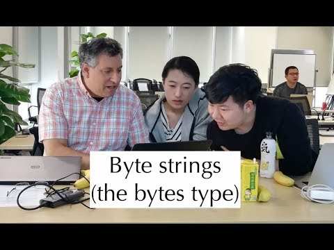 "Python Standard Library: Byte Strings (the ""bytes"" Type)"